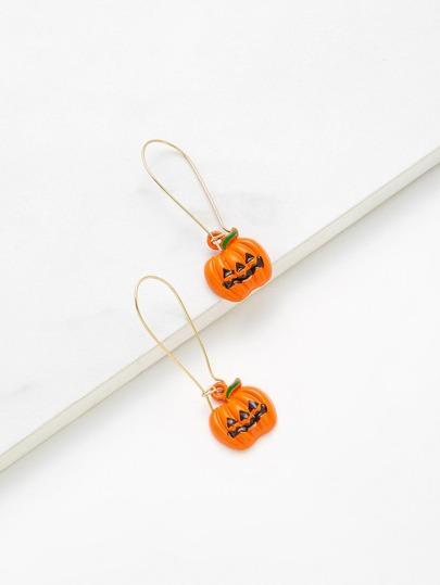 Pumpkin Shaped Drop Earrings