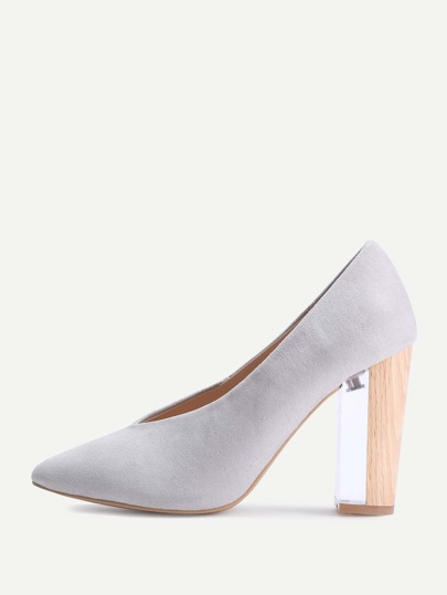 Pointed Toe Block Heels