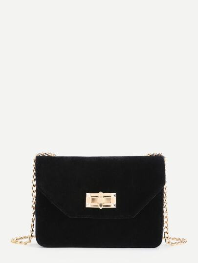 Velvet Envelope Chain Bag