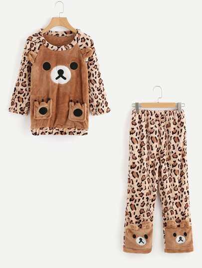 Top pigiama con pantaloni pigiama