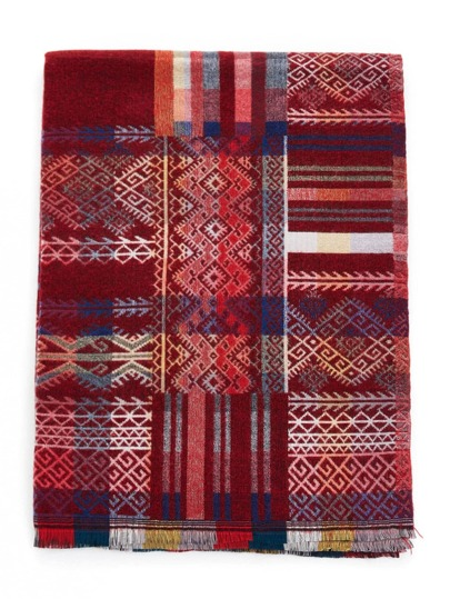Bufanda con estampado azteca