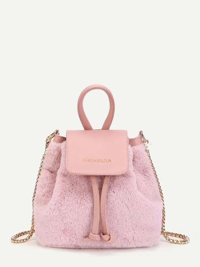 Faux Fur Bucket Bag