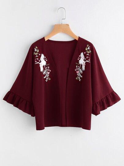 Kimono con maniche svasate