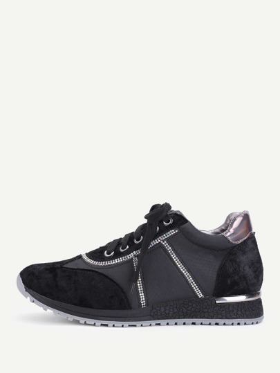 PU Insert Lace Up Sneakers