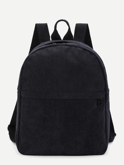Front Pocket Corduroy Backpack