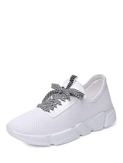 Zapatillas de deporte con cordón superficie de malla