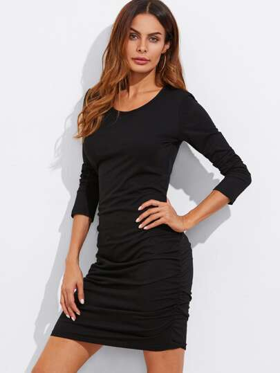 Ruched Detail Slim Fit Dress