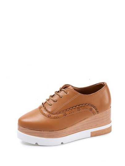 حذاء الاحذيية الاكسفورد لون كاكي