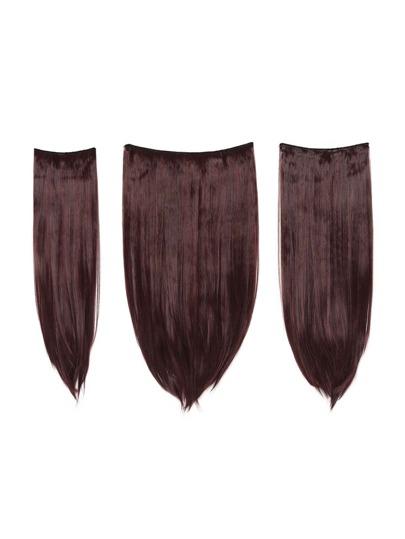 3 piezas de extensión de pelo recto negro & borgoña