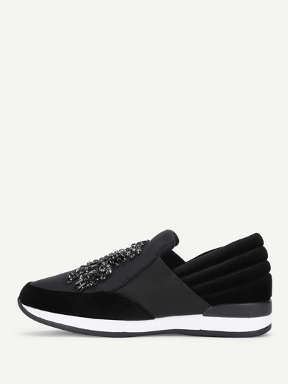 Rhinestone Decorated Low Top Sneakers