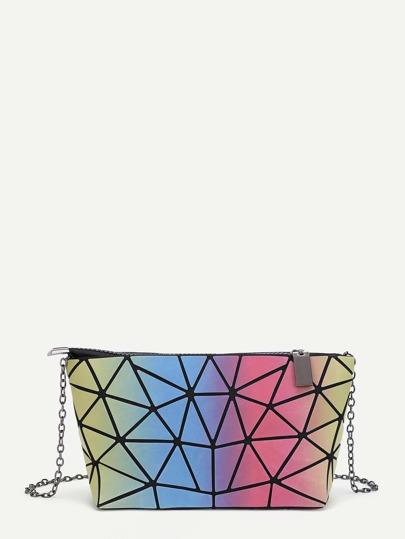 Модная кожаная сумка на цепочке с графическим принтом