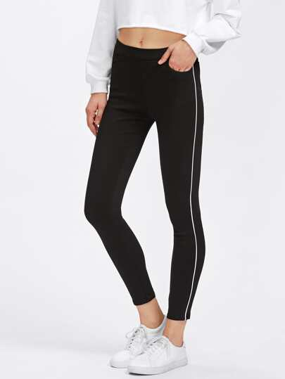 Pantalonia a strisce a contrasto