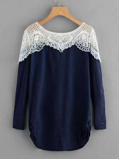 Camiseta hueca crochet