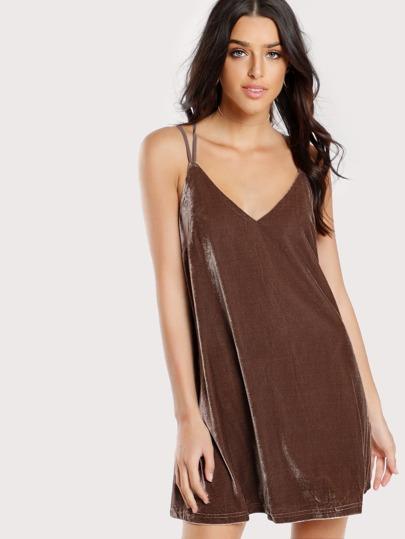 Velvet Cami Dress MOCHA