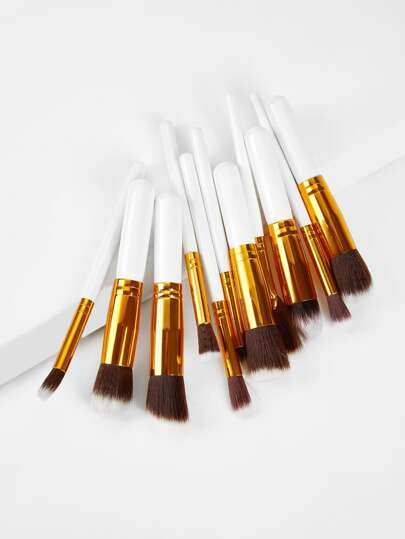 Makeup Pinsel mit zweifarbigem Griff 11pcs