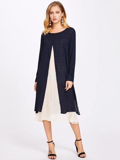 2 In 1 Cut And Sew Dress