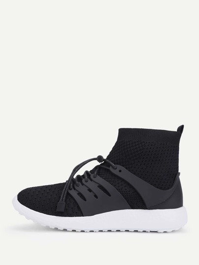 Knit Design High Top Sneakers