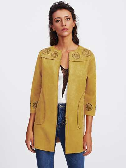 Cappotto con cut-out laser