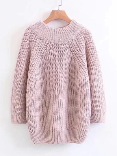 Raglan Sleeve Loose Sweater