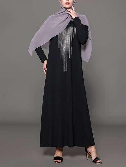 Tassel Front Longline Dress