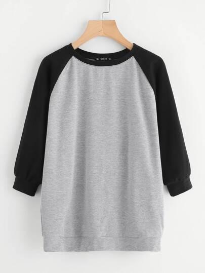Camiseta de manga raglán