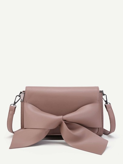 Bow Front PU Crossbody Bag