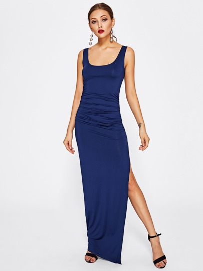 High Split Side Tank Dress