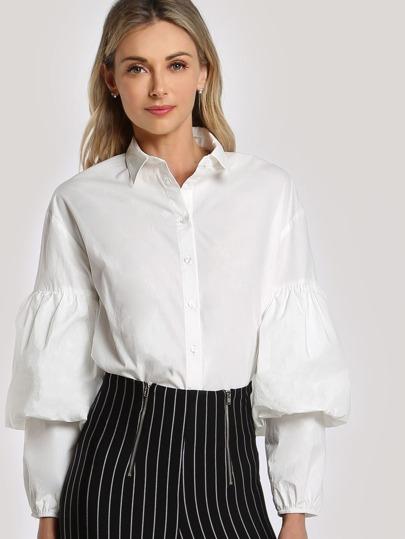 Bishop Sleeve Shirt Bodysuit