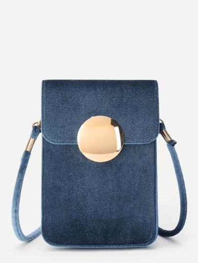 Bolso PVC con botón magnético redondo