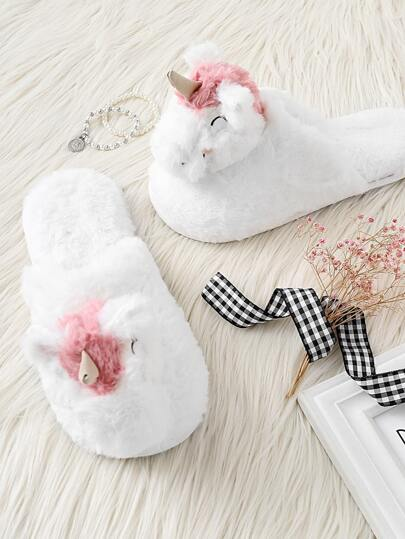Critter Decor Faux Fur Slippers