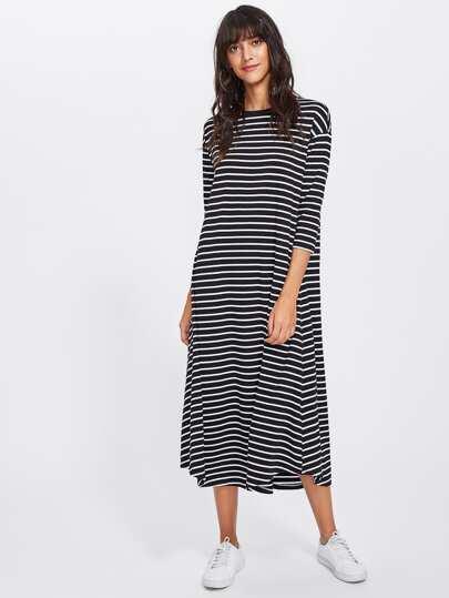 Striped Swing Tee Dress