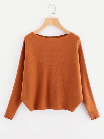 Batwing Sleeve Knit Sweater