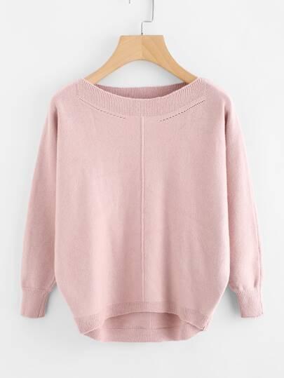 Dip Hem Jersey Sweater