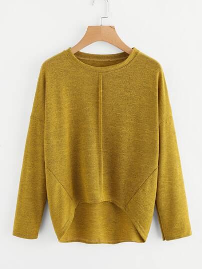 Tee-shirt trapèze en tricot martelé avec la chute de l\'épaule