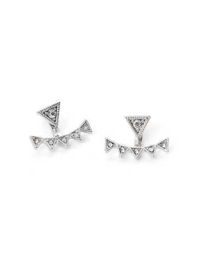 Boucles d\'oreille design de triangle en strass
