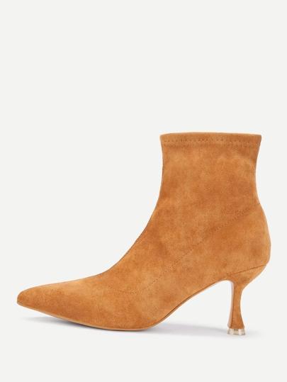 Kitten Heeled Ankle Boots