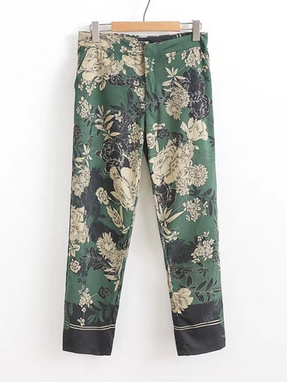 Tailored Floral Pants