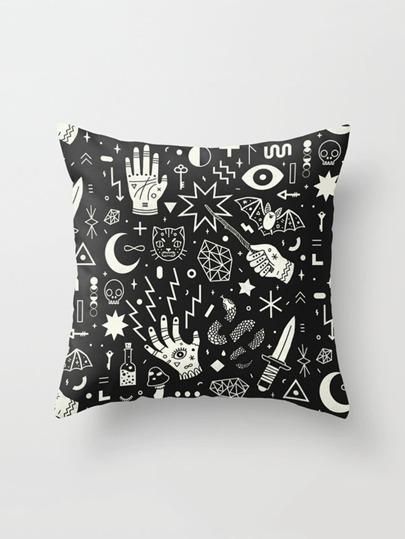 Mixed Print Pillowcase Cover