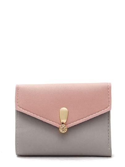Color Block Flap Purse Bag