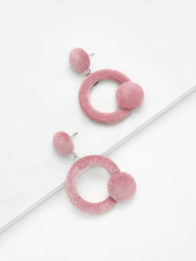 Open Circle Velvet Earrings