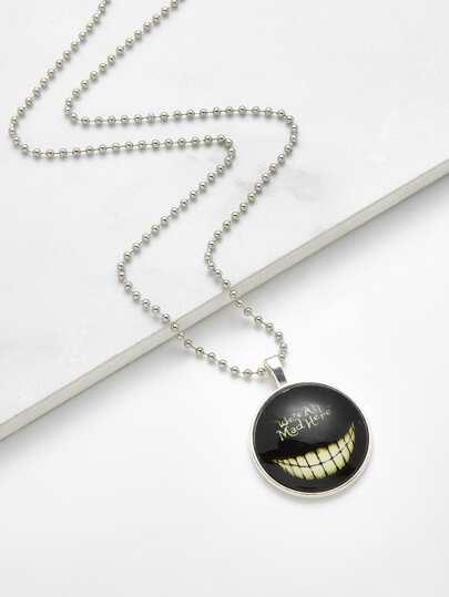 Leuchtende Horror Zähne Anhänger Kette Halskette