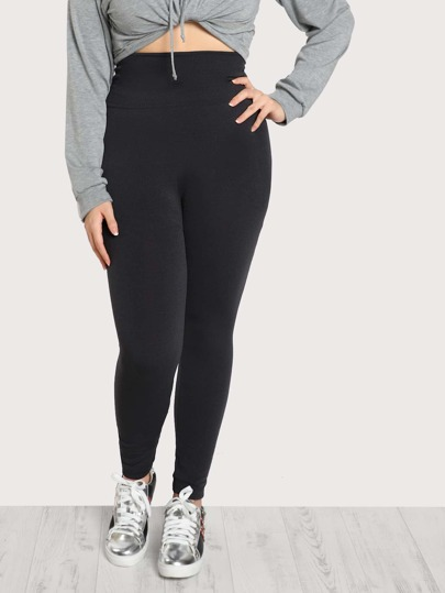Stretch Soft Knit Leggings CHARCOAL