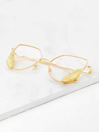 Gafas ojo de gato con marco metálico