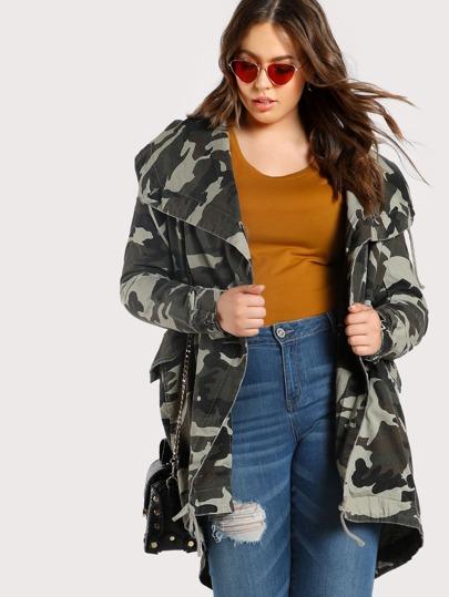 Camo Print Oversize Jacket CAMO