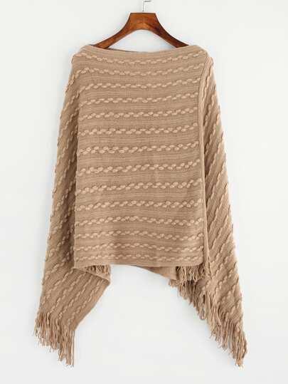 Tassel Poncho Sweater