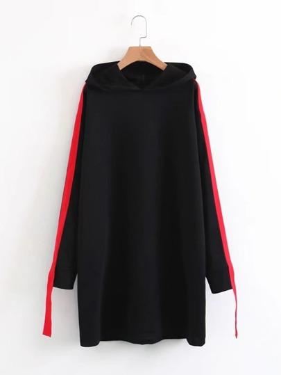 Vestido estilo sudadera con capucha