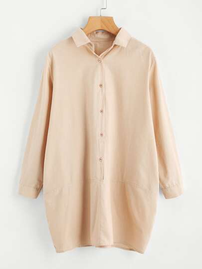 Cocoon Shirt Dress