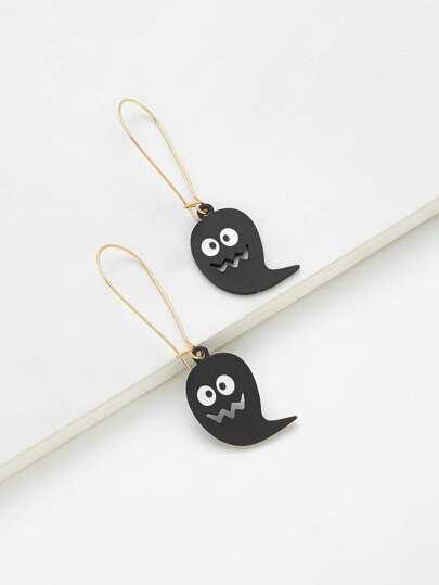 Cartoon Ghost Design Drop Earrings