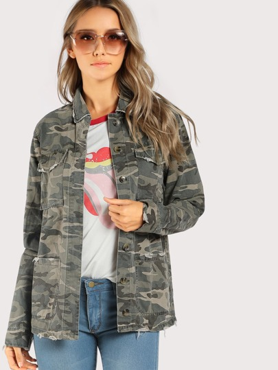 Camo Print Lightweight Jacket CAMO
