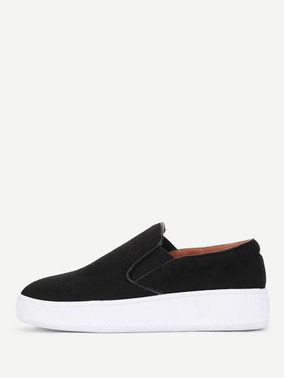 Piping Detail Slip On Plimsolls